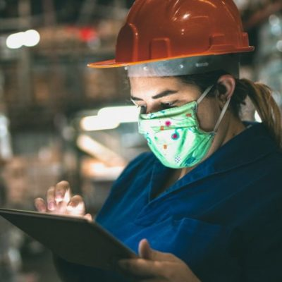 Warehouse Worker in Mask